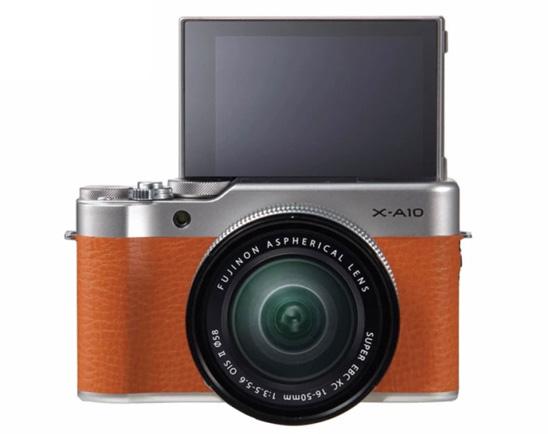 Jual Kamera Mirrorless FUJIFILM X-A10 Kit XC 16-50mm f/3.5-5.6 OIS II Brown Harga Murah