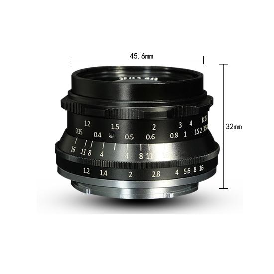 Jual Lensa 7Artisans 35mm f1.2 for Canon EOS-M - Black Harga Murah
