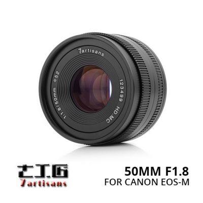 Jual Lensa 7Artisans 50mm f1.8 for Canon EOS-M - Black Harga Murah
