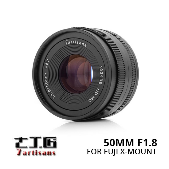 Jual Lensa 7Artisans 50mm f1.8 for Fuji-X - Black Harga Murah