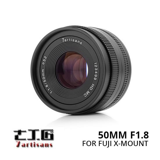 Jual Lensa 7Artisans 50mm f1.8 for Fuji-X - Black Harga Murah