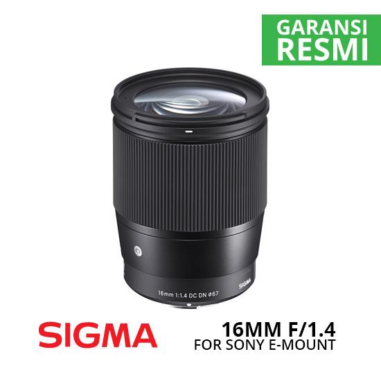 Jual Lensa Sigma 16mm f1.4 DC DN Contemporary for Sony E-Mount Harga Murah