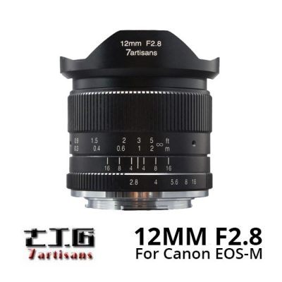Jual lensa 7artisans 12mm f2.8 for Canon EOS-M Mount Black harga murah