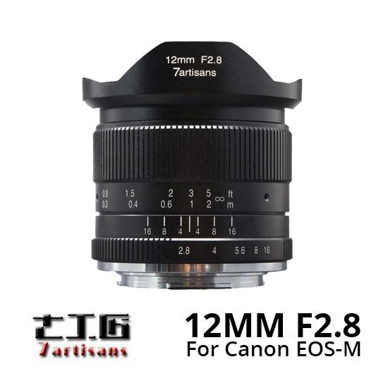 Jual lensa 7artisans 12mm f2.8 for Canon EOS-M Mount Black harga murah
