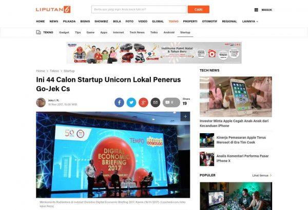 Liputan6 44 Startup Unicorn