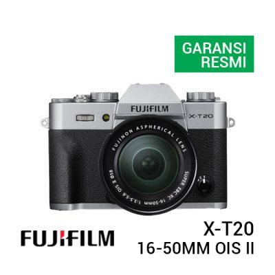 jual kamera Fujifilm X-T20 with XC 16-50mm F/3.5-5.6 OIS II Silver harga murah surabaya jakarta