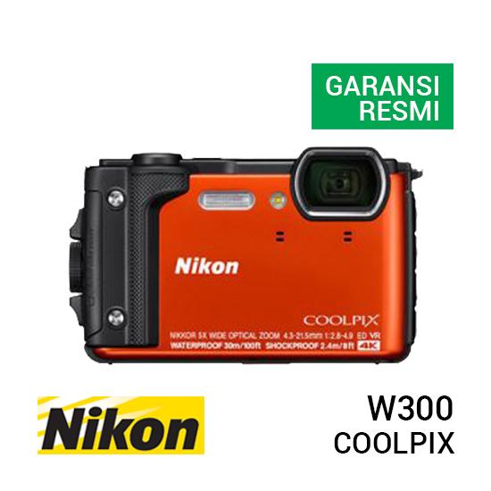 jual kamera Nikon Coolpix W300 Orange harga murah surabaya jakarta