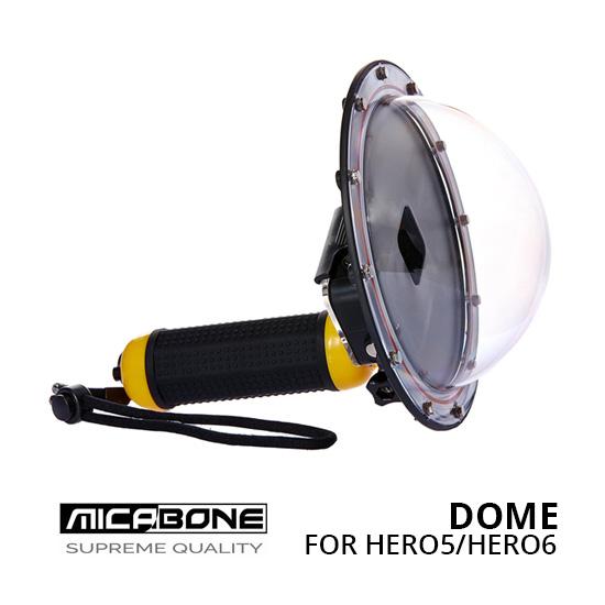 Jual Aksesoris Action Camera Gopro Third Party Micabone Dome Underwater for GoPro Hero5 Hero6 Harga Murah