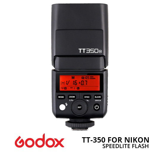 Jual Flash Auto/TTL Godox Speedlite TT-350 for Nikon Harga Murah