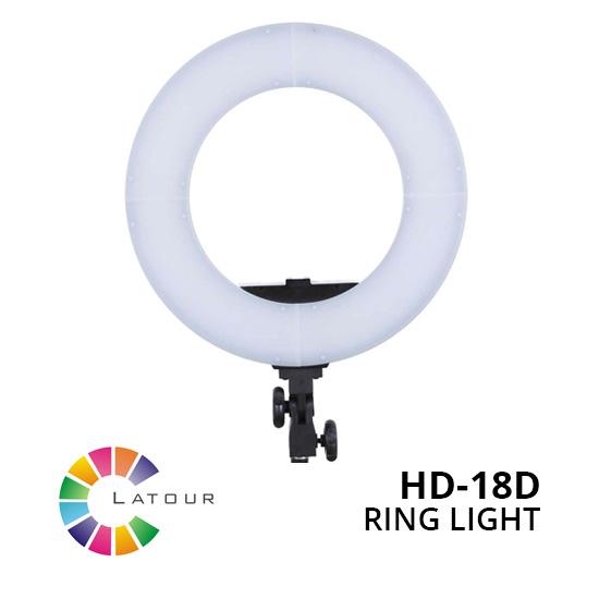 Jual Studio Tools Continuous Light Latour Ring Light LED HD-18D Harga Murah