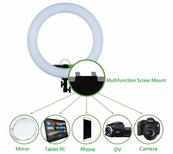 Jual Studio Tools Continuous Latour Ring Light LED HD-18S Bi-Color Harga Murah