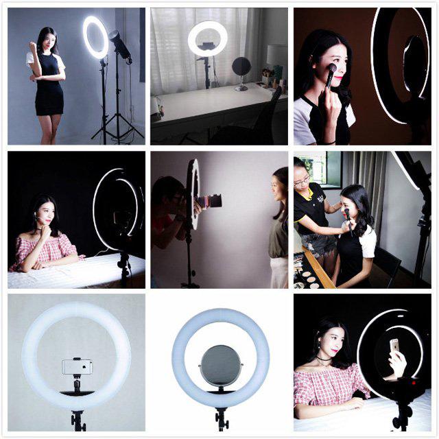 Jual Studio Tools Continuous Light Paket Bundling Latour Ring Light LED HD-18D Harga Murah