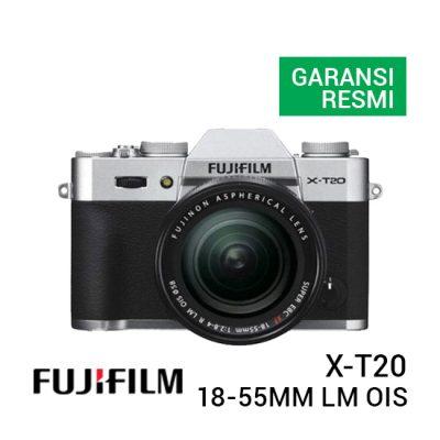 jual kamera Fujifilm X-T20 Kit 18-55mm f/2.8-4 R LM OIS Silver harga murah jakarta surabaya