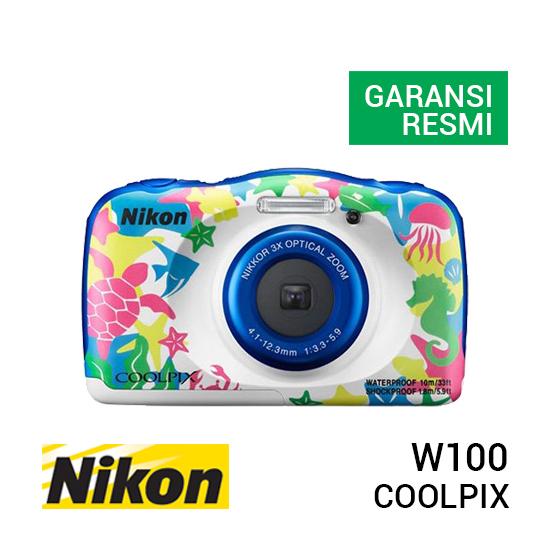 jual kamera Nikon Coolpix W100 White Tribal harga murah surabaya jakarta