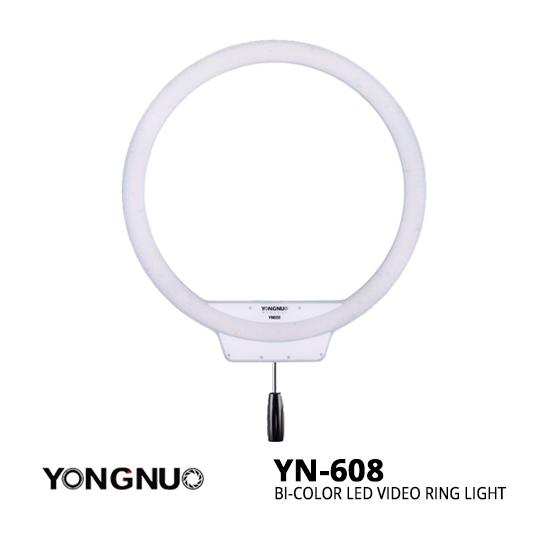 jual ring light YongNuo YN-608 Bi-Color LED Video Ring Light harga murah surabaya jakarta