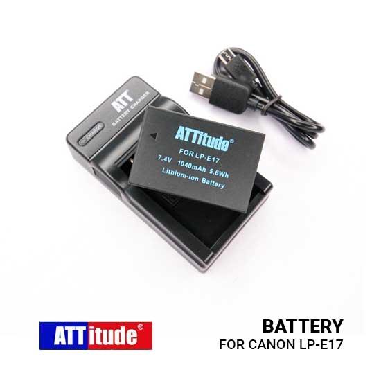 Jual Baterai ATT for Canon LP E17 with charger harga murah surabaya jakarta