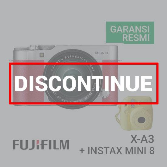FUJIFILM X-A3 Kit 16-50mm Pink + Instax Mini 8