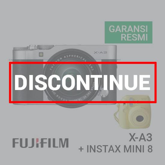 FUJIFILM X-A3 Kit 16-50mm Silver + Instax Mini 8