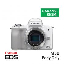 Jual Kamera Mirrorless Canon EOS M50 Body Only – White Harga Murah