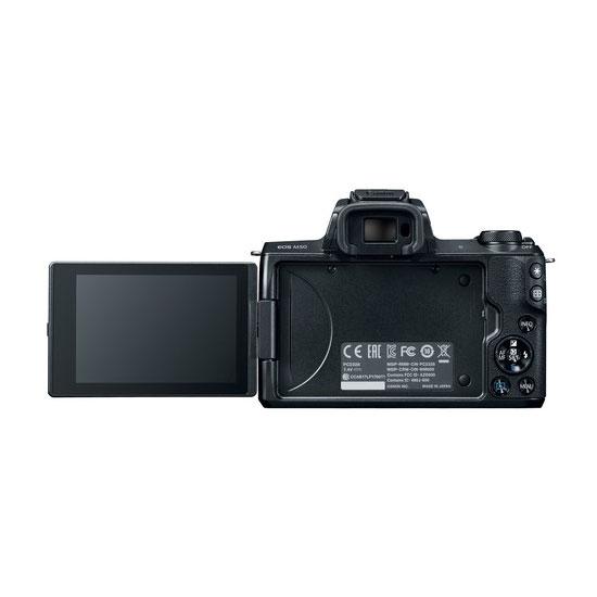 Jual Kamera Mirrorless Canon EOS M50 Kit EF-M 15-45mm + EF-M 55-200mm Black Harga Murah
