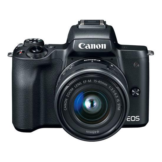 Jual Kamera Mirrorless Canon EOS M50 Kit EF-M 15-45mm IS STM Black Harga Murah