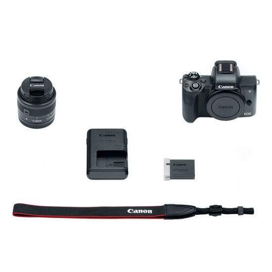 Jual Kamera Mirrorless Canon EOS M50 Kit EF-M 15-45mm IS STM Black Harga Murah