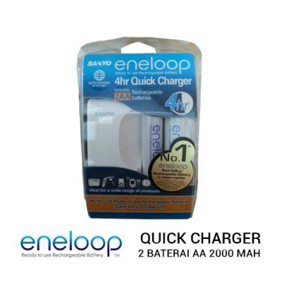 jual baterai Eneloop Quick Charger 2X Baterai AA 2000 mAh harga murah surabaya jakarta
