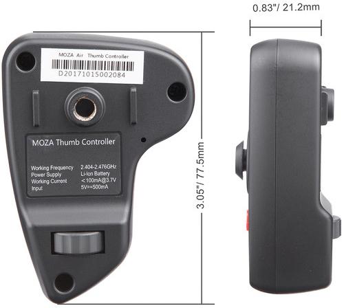 jual kontroler Moza Wireless Thumb Controller harga murah surabaya jakarta