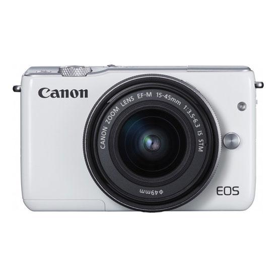 Jual Kamera Mirrorless Canon EOS M10 Kit II EF-M15-45mm & EF-M22mm White Harga Murah