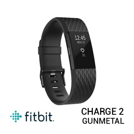 jual jam Fitbit Charge 2 Black Gunmetal harga murah surabaya jakarta