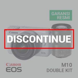 Jual Kamera Mirrorless Canon EOS M10 Kit III EF-M15-45mm & EF-M55-200mm White Harga Murah
