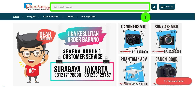 toko online kamera plazakamera surabaya dan jakarta