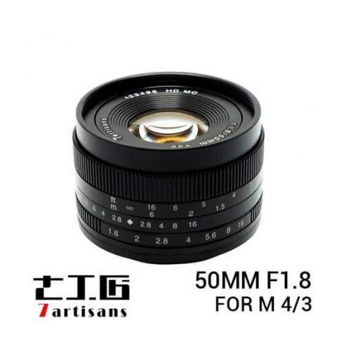 jual 7Artisans 50mm F1.8 for M 4/3 Black harga murah surabaya jakarta