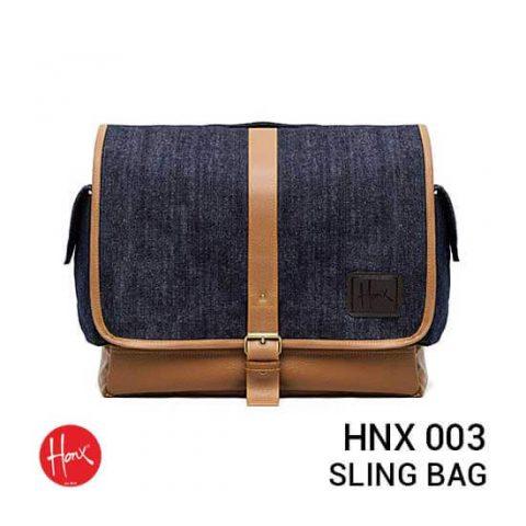 jual tas HONX HNX 003 Sling Bag Navy Brown harga murah surabaya jakarta