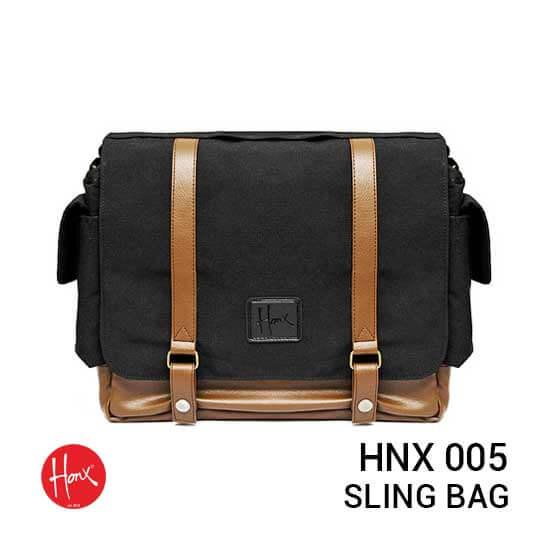 jual tas HONX HNX 005 Sling Bag Black Brown harga murah surabaya jakarta