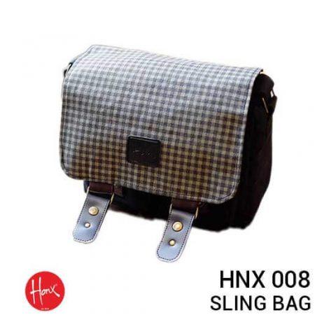 jual tas HONX HNX 008 Sling Bag Black Checker harga murah surabaya jakarta