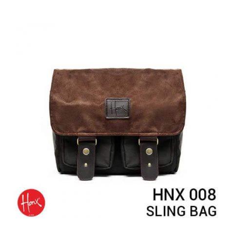 jual tas HONX HNX 008 Sling Bag Green Brown harga murah surabaya jakarta
