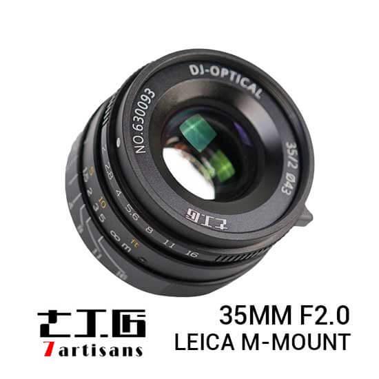 jual 7Artisans 35mm F2.0 for Leica M-Mount Black harga murah surabaya jakarta