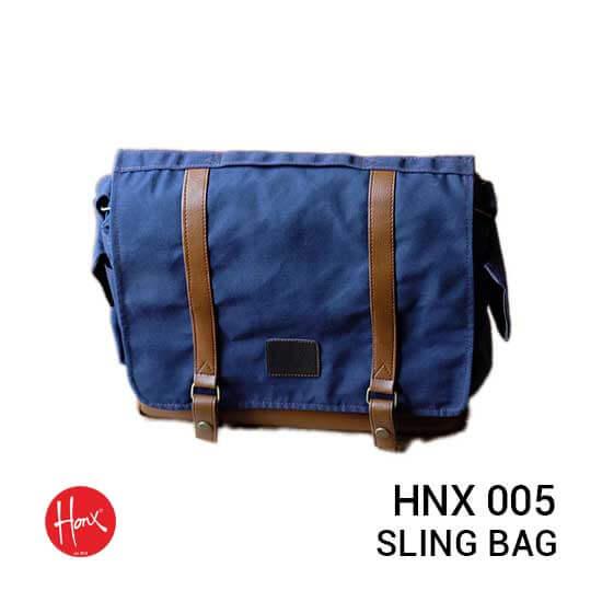 Jual HONX HNX 005 Sling Bag Navy Brown Harga Murah