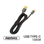 jual usb Remax Cowboy Cable Type-C 120cm Black harga murah surabaya jakarta