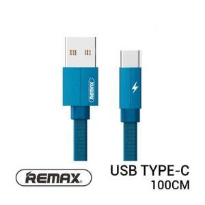 jual usb Remax Kerolla Cable Type-C 100cm Blue harga murah surabaya jakarta