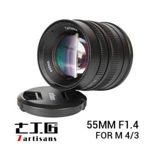 jual lensa 7Artisans 55mm F1.4 for M4/3 Black harga murah surabaya jakarta