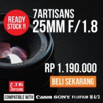 7artisan 25mm toko kamera online plazakamera surabaya dan jakarta