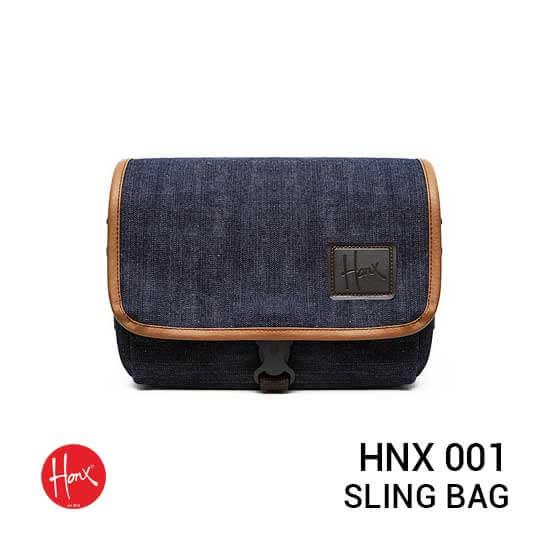 jual tas kamera HONX HNX 001 Sling Bag Navy Brown harga murah surabaya jakarta