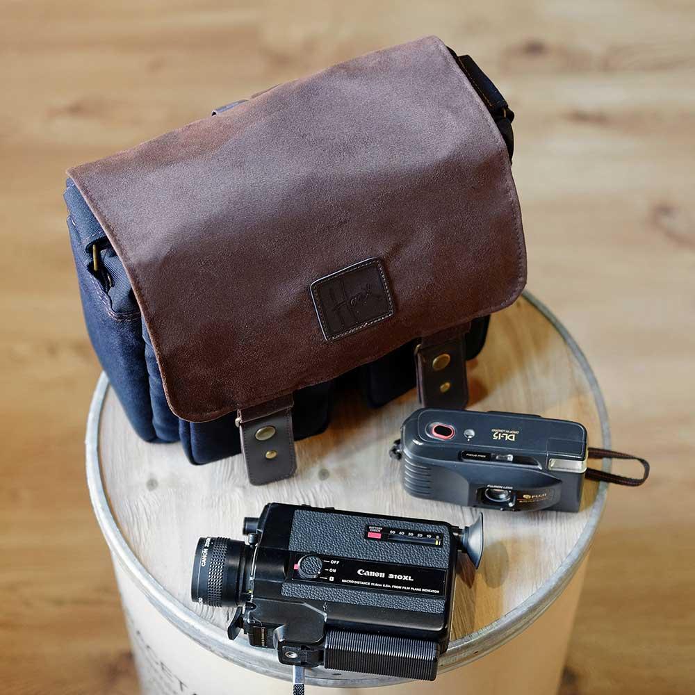 jual tas kamera HONX HNX 008 Sling Bag Navy Brown harga murah surabaya jakarta