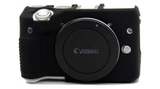 jual Silicone Case Canon EOS M3 Black harga murah surabaya jakarta