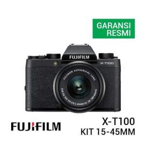 jual kamera Fujifilm X-T100 Kit XC 15-45mm Black harga murah surabaya jakarta