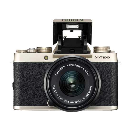 jual kamera Fujifilm X-T100 Kit XC 15-45mm Champagne Gold harga murah surabaya jakarta