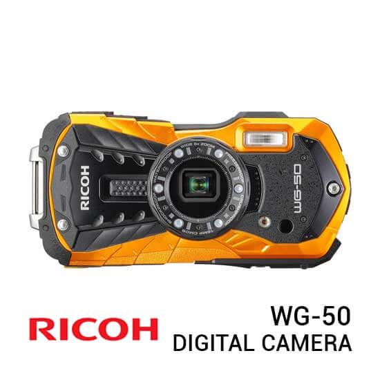 jual kamera Ricoh WG-50 Orange harga murah surabaya jakarta