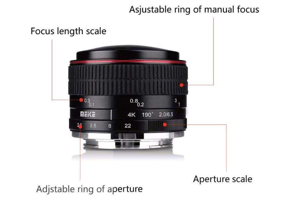 jual lensa Meike 6.5mm F2.0 For Sony harga murah surabaya jakarta